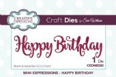 Sue Wilson Craft Dies - Mini Expressions - Happy Birthday – CEDME002